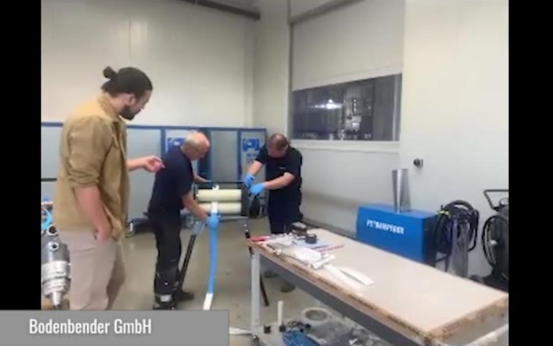 DN50 Rohrsanierung bei offenem Ende – AIRBAGLINER® Live Stream